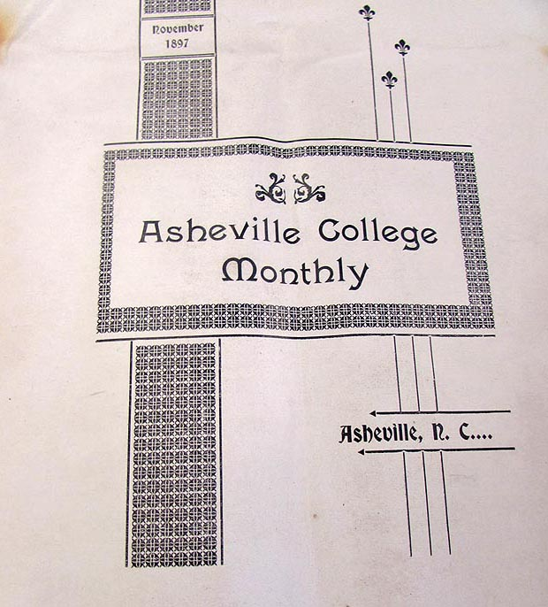 Asheville College Monthly newsletter, 1897