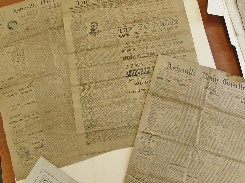 Asheville's daily and weekly newspapers, 1897