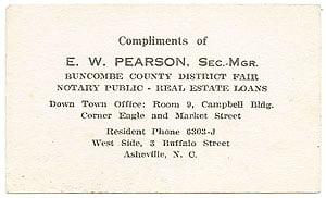 Pearson also sold real estate while working as an agent with R.P. Hayes, son of U.S. President Rutherford B. Hayes.