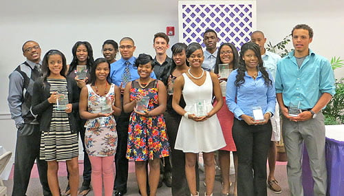 These graduating seniors were recognized for academic excellence.  Photo: Urban News