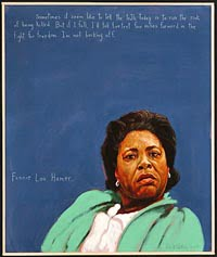 Fannie Lou Hamer, portrait by Robert Shetterly