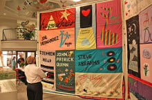 Panels from the AIDS Memorial Quilt.  Photo: Ken Wilson