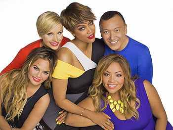Tyra Banks and the cast of Fablife.