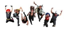Members of the dance-theater company,  Lucky Plush Productions.
