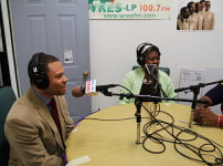 Duane Adams and Phyllis Utley, co-hosts of A-B Tech's bi-weekly radio show on WRES 100.7