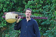 Sean Gaskell will perform traditional songs on the 21 stringed West African Kora.