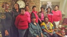 The Royalette Social Club. 1st row (left to right): Joan Mosley, Dolly Burwell, and Sophie Dixon. 2nd row: Justine Baird, Beverly Workman, Janie Harper, Kristie Smith, Frances Shumate, Viola Tinsley, and Rosalyn Valentine.
