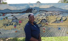 Mural artist and designer, Jacqueline Thompson.  Photo: Urban News