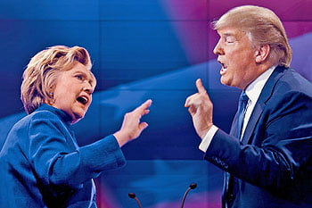 Presidential candidates Hillary Clinton and Donald Trump debate current issues that are of great concern to our voters.