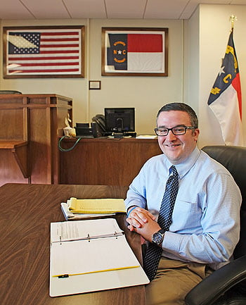 Assistant District Attorney Jeremy Ingle, of the Buncombe County Veteran's Treatment Court.  Photo: Renato Rotolo/Urban News