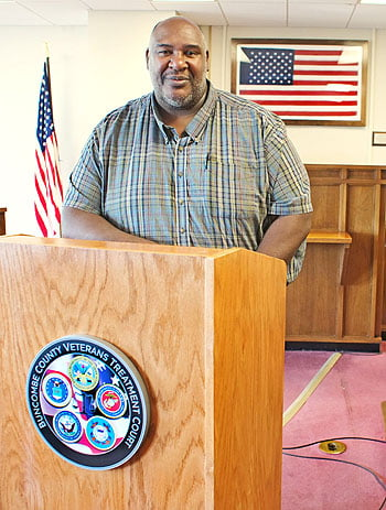 Dr. Eric Howard, MSW, Executive Director  of the Veteran's Treatment Court.   Photo: Renato Rotolo/Urban News