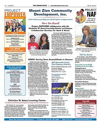 Mount Zion Community Development – July 2017
