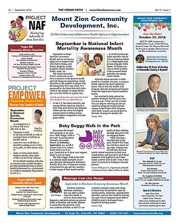 Mount Zion Community Development – September 2018