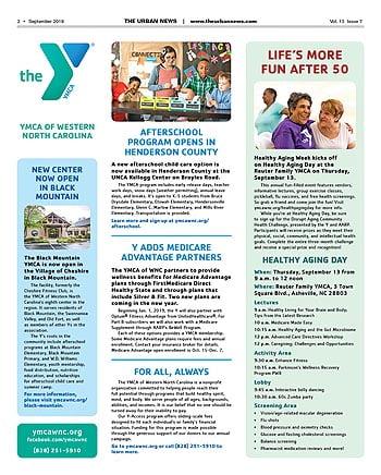 YMCA News: September 2018