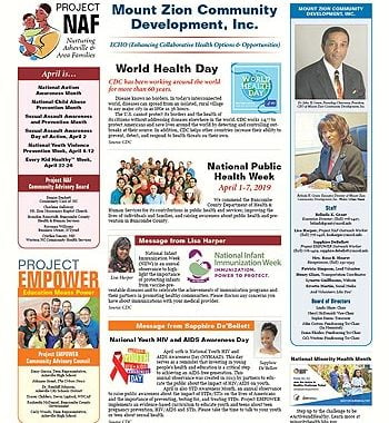 Mount Zion Community Development – April 2019