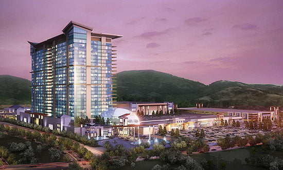 Artist's rendering of proposed Catawba Nation casino in North Carolina. Image from Catawba Nation Project Brief