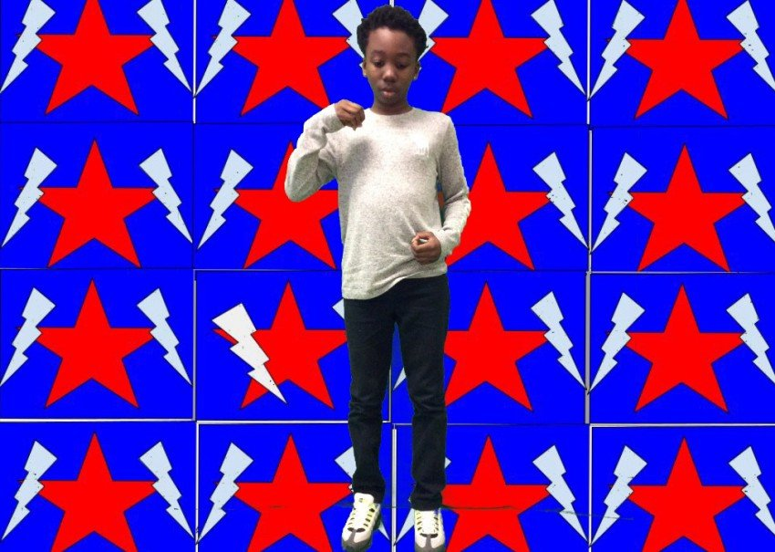 A unique overlapping pattern inspired by Kehinde Wiley