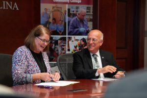 A-B Tech and WCU Sign Admission Agreement