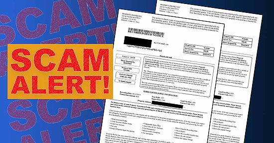 Property Transfer Scam Alert
