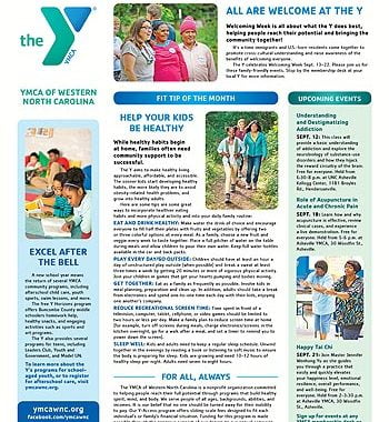 YMCA News: September 2019