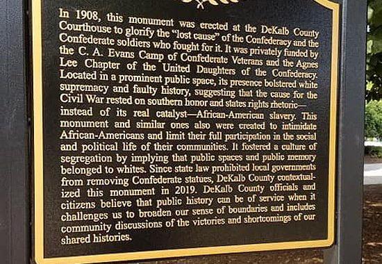 DeKalb Georgia Contextualizes Confederate Monument