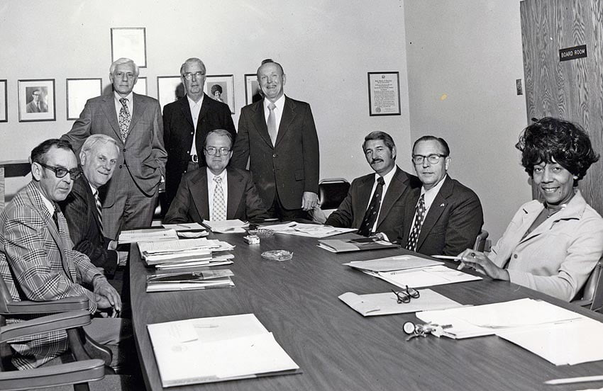 A-B Tech Board of Trustees meeting in 1977.