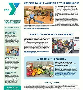 YMCA News: January 2020