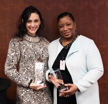 MAHEC's Emerging Leader Award recipient, Ana Cabello-De la Garza, MSW, MPH, and Spirit of MLK Award recipient, Cherie Jackson.