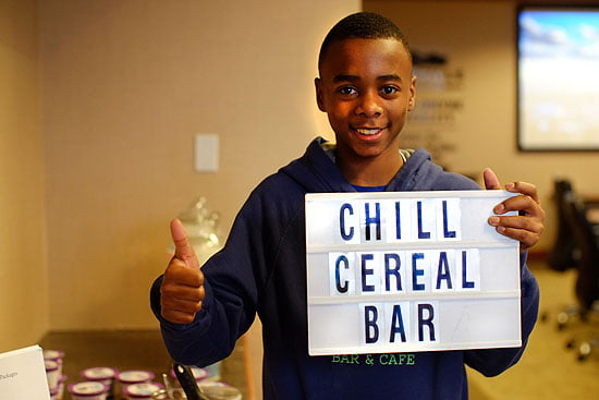 Elijah Waters owner of the Chill Cereal Bar