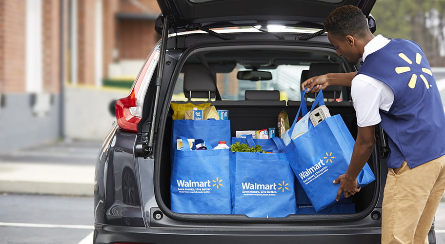 loading car with groceries