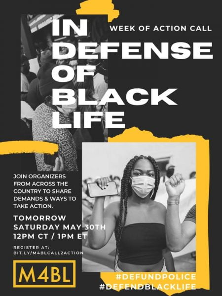 in defense of black lives poster