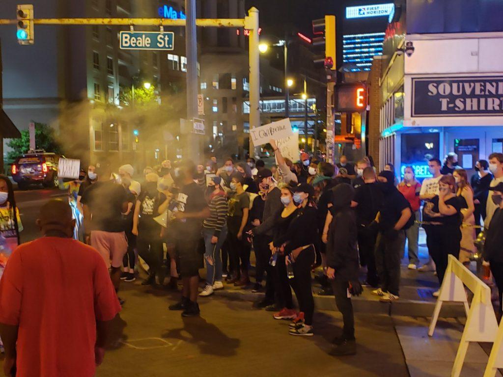Protestors in Memphis