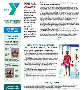 YMCA News: June 2020