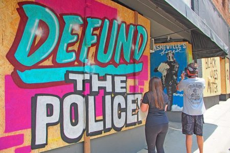 defund the police mural