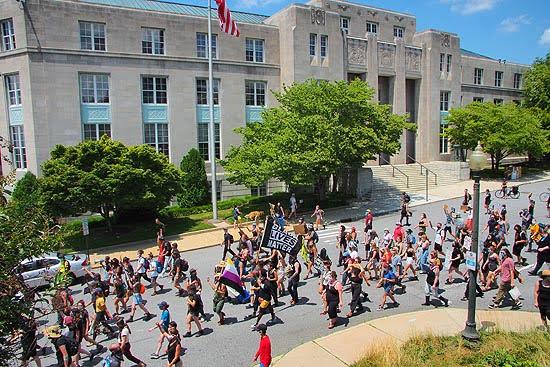BLM march Asheville, NC