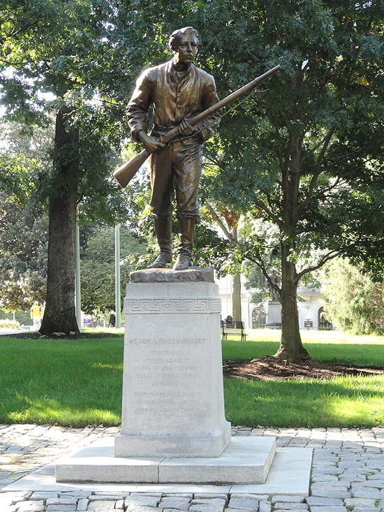 Statue of Henry Lawson Wyatt in Raleigh, NC.