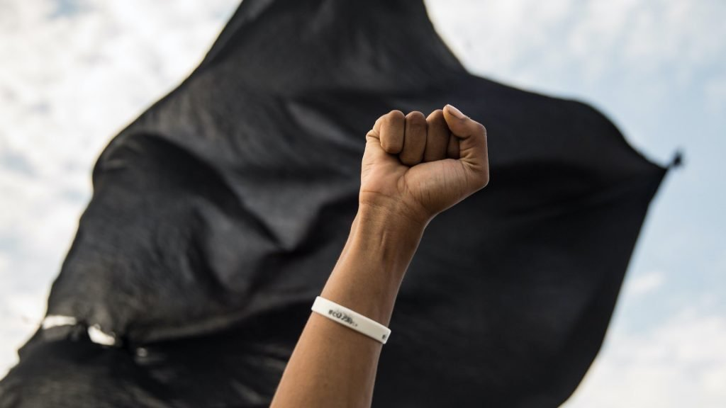 raised black fist
