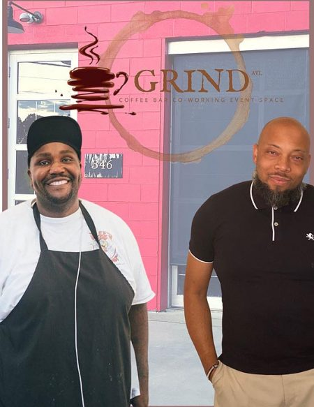 Gene Ettison and J Hackett, owners of GRIND.