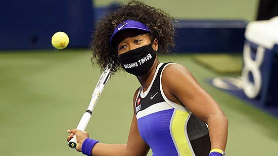 Naomi Osaka Wears Face Mask with Breonna Taylor's Name at U.S. Open