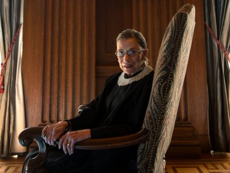 Ruth Bader Ginsburg in chair