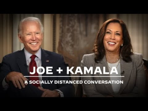 Joe Biden and Kamala Harris: A Socially Distanced Conversation