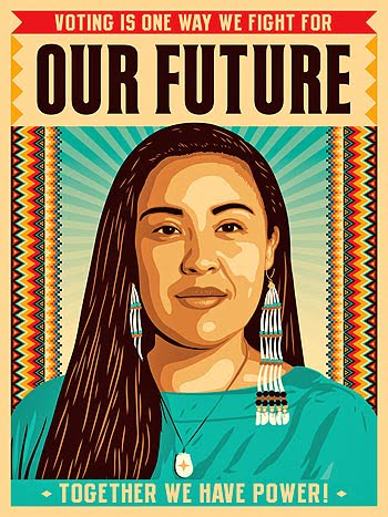 Natives-Vote-poster by Ernesto and Yerena