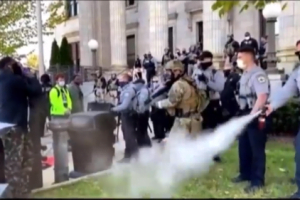 Police in Graham, NC Pepper-Spray March to the Polls Participants