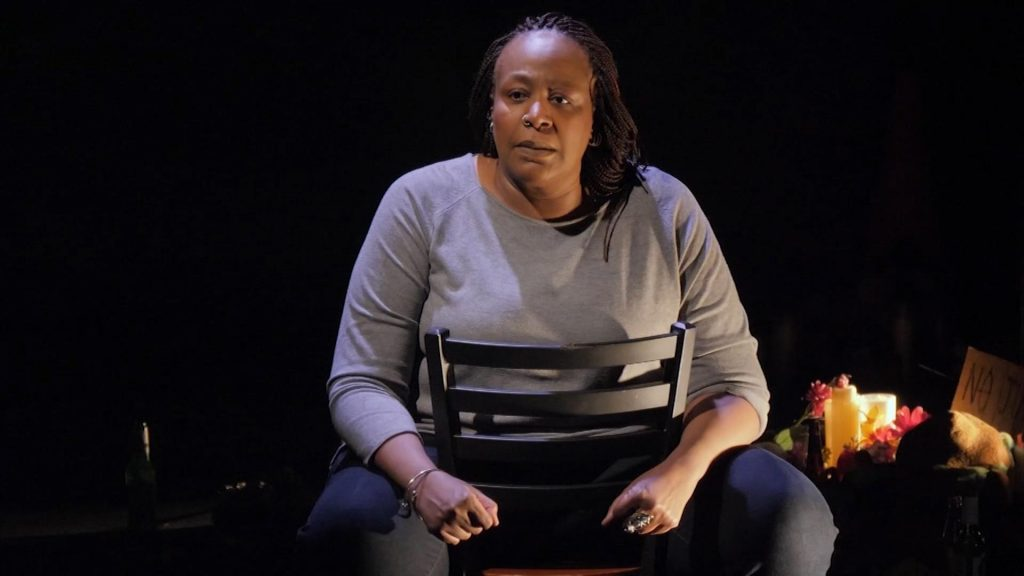 "Dael Orlandersmith in her one-woman show ""Until the Flood"""