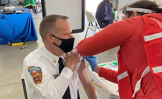 Buncombe County First Responders Receive COVID-19 Vaccine
