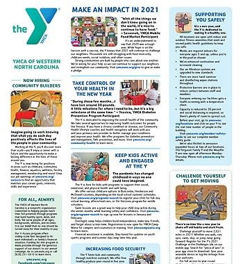 YMCA News: January 2021