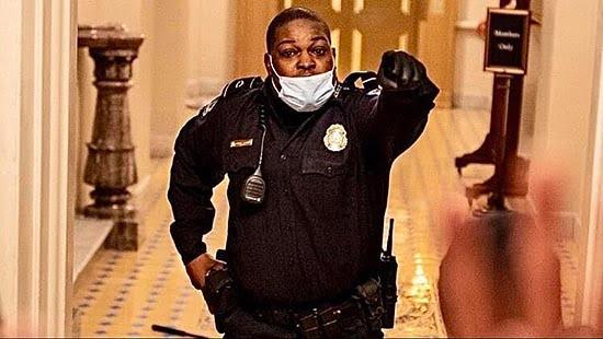 Black Officer Hailed for Saving Senate Lives