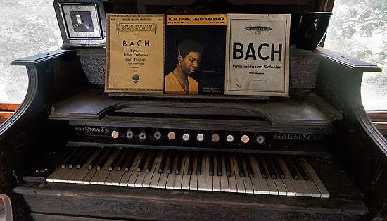 Piano in Nina Simone's childhood home.