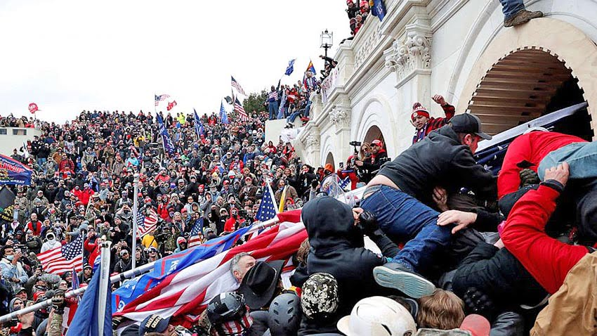 A mob of far-right extremists invade the Capitol