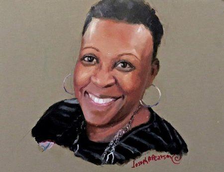 Portrait of Brenda Mills by Joseph Pearson.